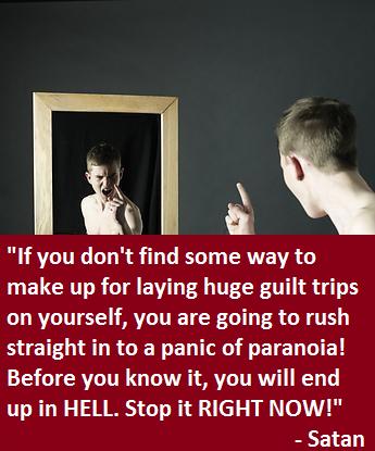 Satan shaming the mirror