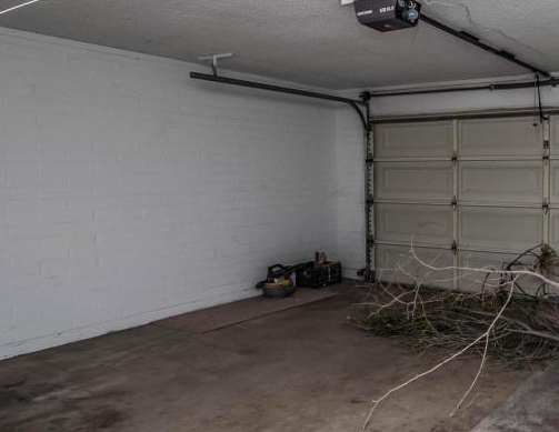 garage before conversion