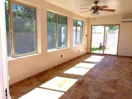 porch converted in to Arizona room in Phoenix AZ
