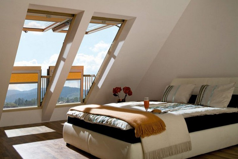 attic converted into a bedroom