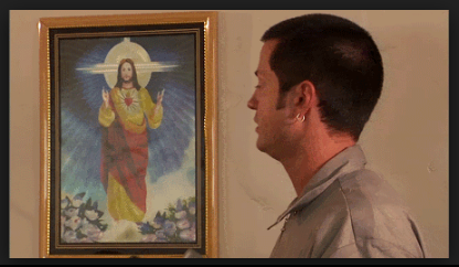 painting of jesus on wall