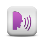 121673-matte-purple-and-white-square-icon-people-things-speech