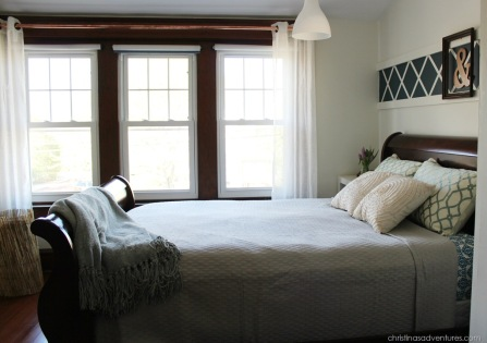from the interior of bedrooms that were converted from garages