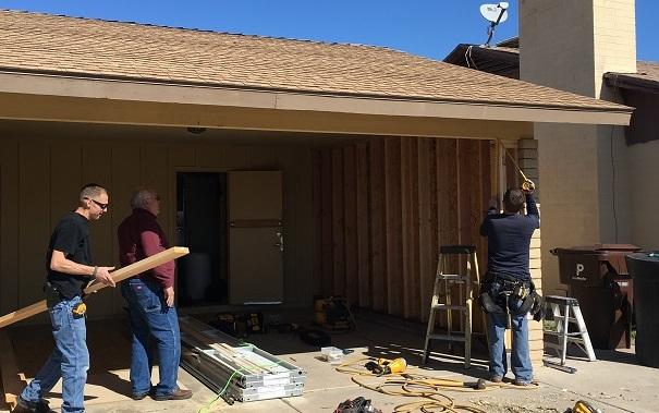 carport conversion Phoenix: enclosing a carport to convert it to a garage