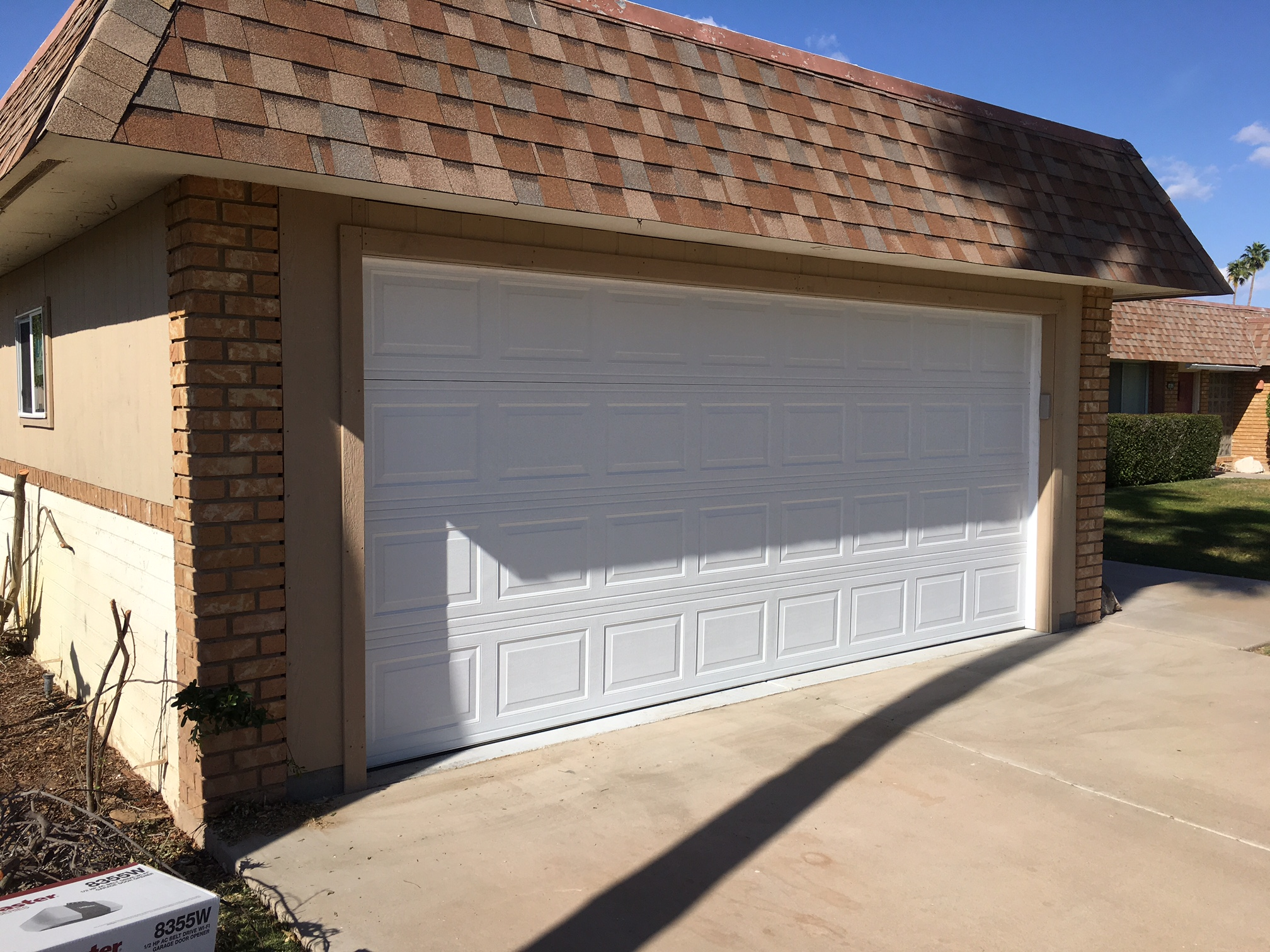Carport-to-garage conversion: before & after photos