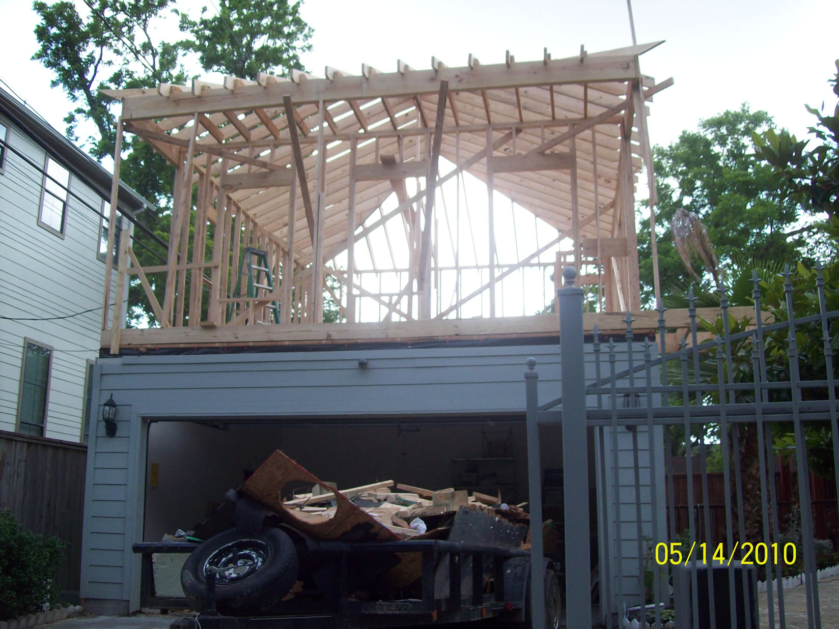 Building A 2nd Story Room Addition Over A Detached Garage