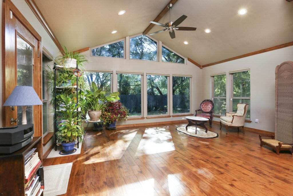 sun room addition - interior view