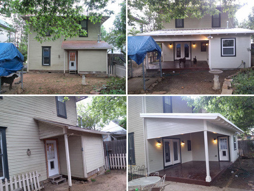 bathroom addition plus laundry room & porch - exterior views (before and after photo gallery)