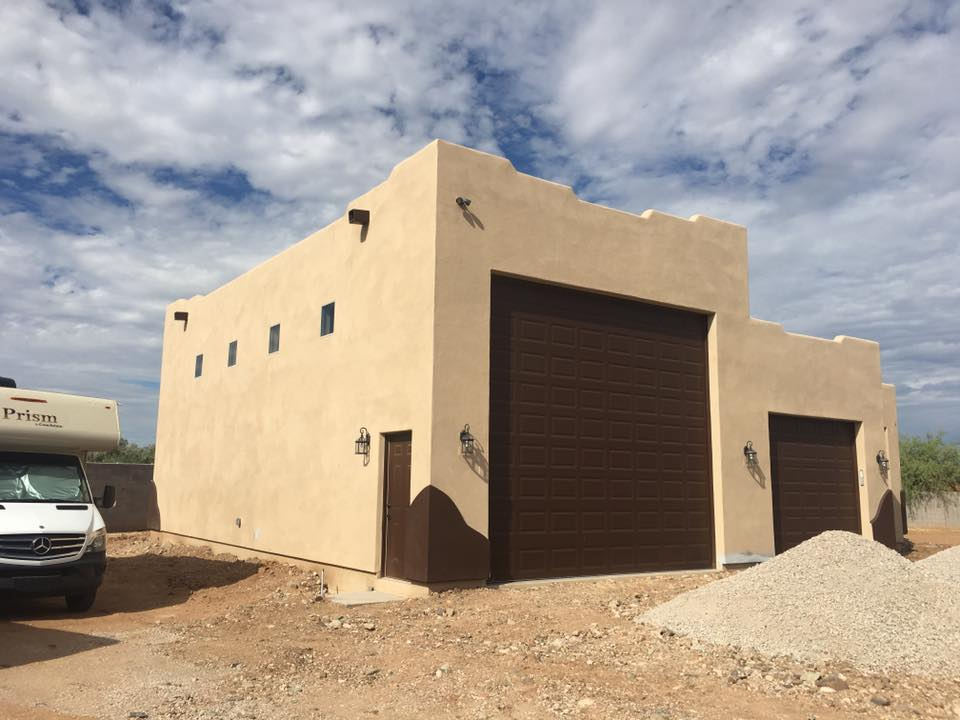 construction of an RV Garage plus guest house in AZ