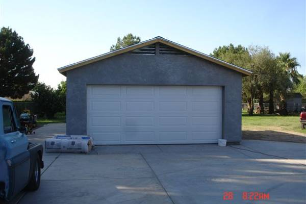 Garage Construction In Phoenix Az A Detached 2 Car Garage