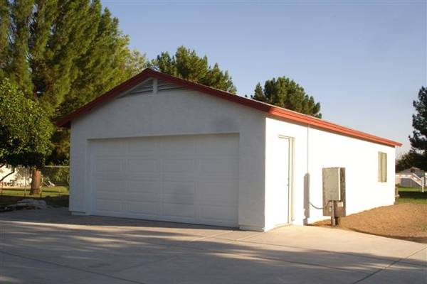 construction of a 2-car garage in Phoenix